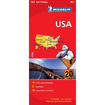 USA Mapa  Michelin 761