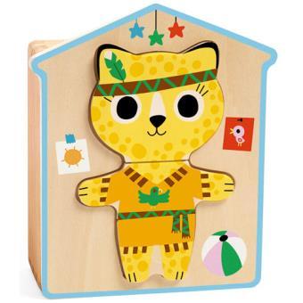 Puzzle Gatinhos (6 Puzzles de 3 Peças) - Djeco