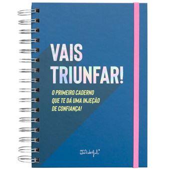 Caderno Frases Motivadores Powerful Mr.Wonderful - Vais Triunfar