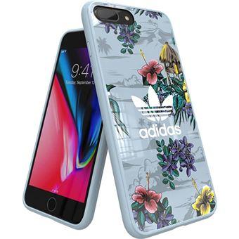 Capa Adidas para iPhone 6 Plus/6s Plus/7 Plus/8 Plus - Floral