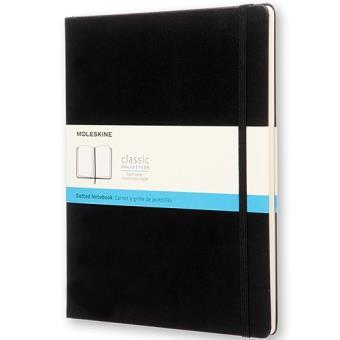 Caderno Pontilhado Moleskine XL Preto