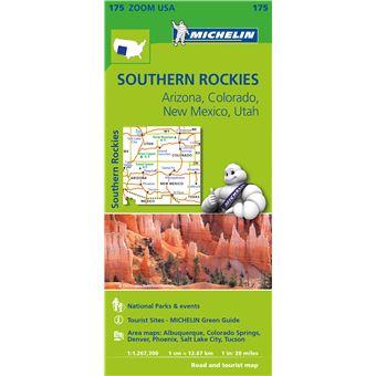 Mapa Michelin Zoom 175 - USA: Southern Rockies