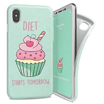 Capa I-PAINT Cup Cake para iPhone X/XS - Verde