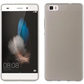 Muvit Capa Minigel Ultrafina para Huawei P8 Lite (Preto Transparente)