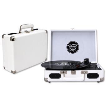 Vinyl Styl Groove Portable 3 Speed Turntable (White)