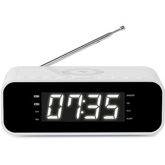 Rádio Despertador Thomson com Carregador Wireless - Branco