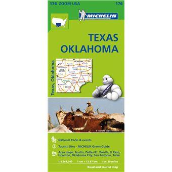 Mapa Michelin Zoom 176 - USA: Texas, Oklahoma