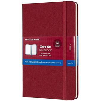 Caderno Pautado e Liso Moleskine Two-Go Bolso Cranberry