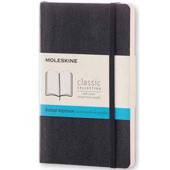 Caderno Pontilhado Moleskine Soft Bolso Preto