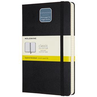 Caderno Quadriculado Moleskine Grande Expanded - Preto