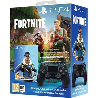comando sony dualshock 4 preto conteudos de fortnite - como jogar fortnite no ps4