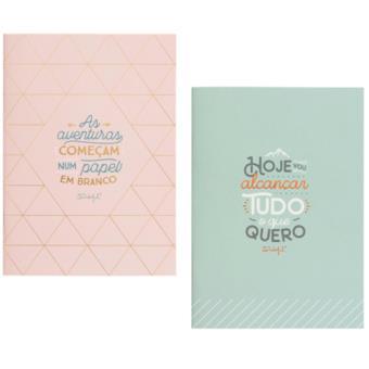 Cadernos Mr. Wonderful Tinta Dourada - 2 Unidades