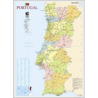 Mapa De Portugal Escolar Grande 2 Faces Folha Plastificada