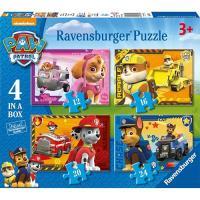 Puzzle 4 em 1 Patrulha Pata (Paw Patrol) (72 peças)