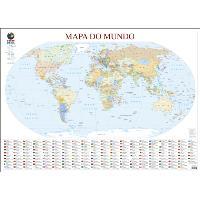 Mapa do Mundo de Parede Grande - Folha Plastificada
