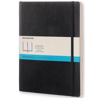 Caderno Pontilhado Moleskine Soft XL Preto