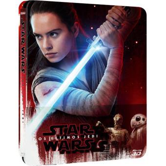 Star Wars: Episódio VIII - Os Últimos Jedi - Edição Steelbook - Blu-ray 3D + 2D + Extras