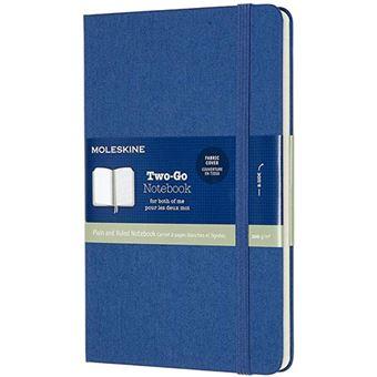 Caderno Pautado e Liso Moleskine Two-Go Bolso Azul