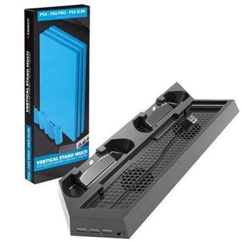 Suporte Vertical + Carregador Indeca para Comandos PS4