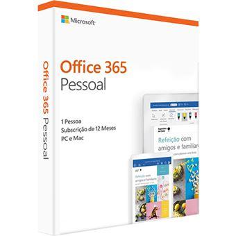 Microsoft Office 365 Pessoal - 12 Meses
