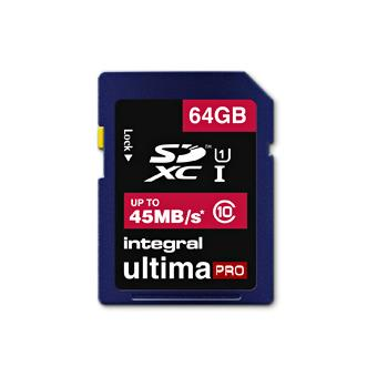 Integral UltimaPro SDXC 64GB 45MB/S Classe 10