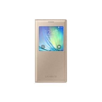 Samsung Capa S View para Galaxy A7 (Dourado)