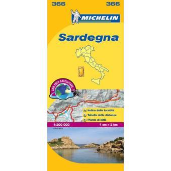 Sardegna Mapa Michelin 366
