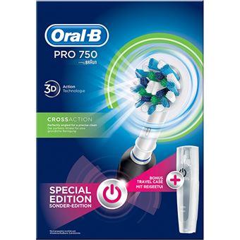 Escova de Dentes Elétrica Oral-B PRO 750 Cross Action - Preto