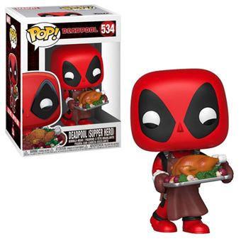 Funko Pop! Marvel Holiday: Deadpool with Turkey - 534
