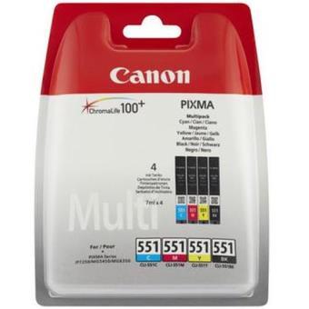 Canon Multi-Pack Tinteiros CLI-551 C/M/Y/BK