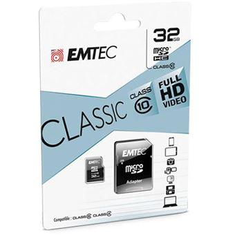 Cartão Micro SDHC EMTEC CL10 Classic - 32GB