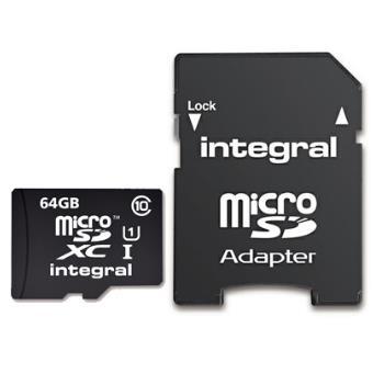 Integral microSDXC 64GB 40MB/s Classe 10