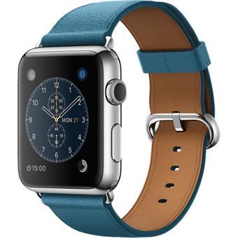 Apple Watch 42 Aço Inoxidável | Bracelete Azul Marinho
