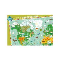 Puzzle Descobrir os Monumentos do Mundo com Livro - Djeco