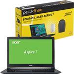 Pack Fnac Acer Aspire 7 + Disco Externo + Mochila
