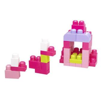 Mega Bloks Eco Bolsa Rosa 60 Peças