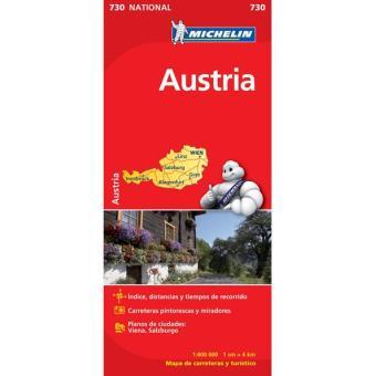 Mapa Michelin Nacional 730 - Áustria