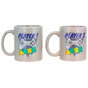 Caneca Playstation - Player One & Player Two