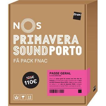Fã Pack Fnac NOS Primavera Sound 2019 – Passe Geral | Preço: 110€ Pack + 8.12€ Custos de Operação