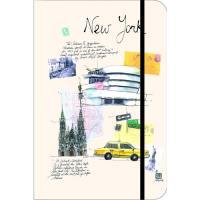 Caderno Liso e Pautado TeNeues City Journal Nova Iorque Bolso