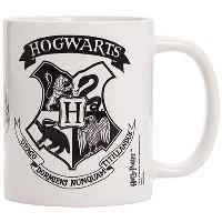 Harry Potter - Caneca Brasão Hogwarts (Preto e Branco)