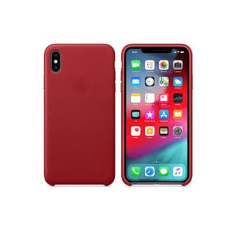 Capa Pele Apple para iPhone XS Max - (PRODUCT) RED