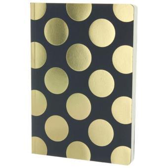 Caderno Pautado Navy Gold Spots A5