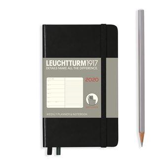 Agenda Semanal 2020 Leuchtturm1917 e Notebook A6 Preta