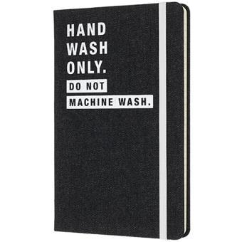 Caderno Pautado Moleskine Denim - Hand Wash Only Grande