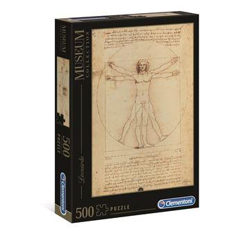 Puzzle Leonardo Uomo Vitruviano - 500 Peças - Clementoni