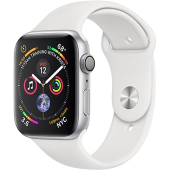 Apple Watch Series 4 40mm - Alumínio Prateado | Bracelete Desportiva - Branco