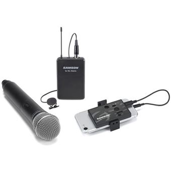 Microfone de Mão Sem Fios Samson Go Mic Mobile
