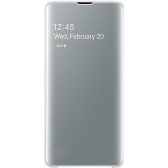 Capa Samsung Clear View para Galaxy S10 - Branco