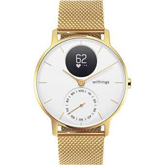 Monitor de Atividade Withings Steel HR 36mm - White | Champagne Gold